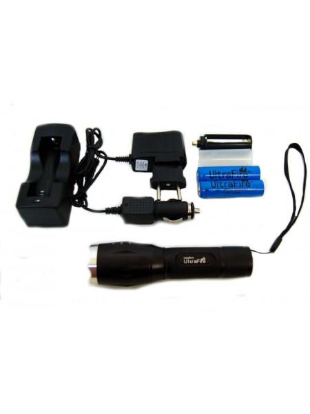 Комплект: Ручной фонарь UltraFire + 2*18650+ З/У(220 +12В)